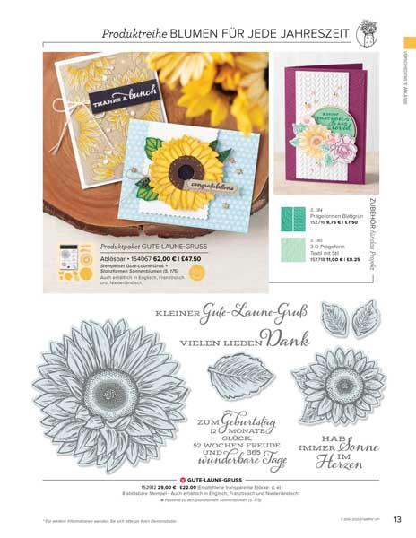 Sonnenblumen Produktreihe