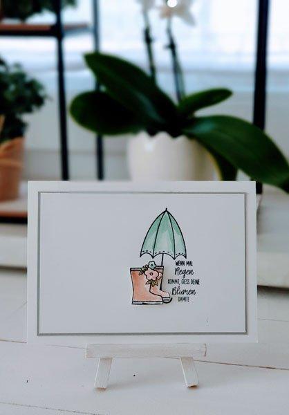 Glücksregen Regenschirm