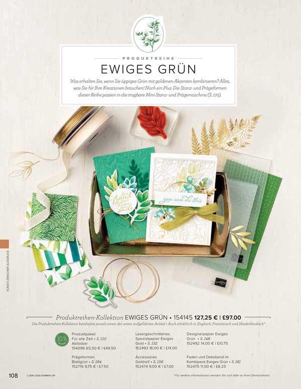Ewiges Grün Produktreihe