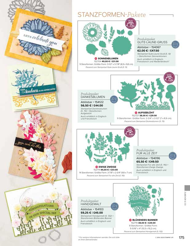 Stanzen-Pakete Stampin UP! 6