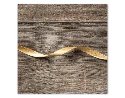 Schimmerndes Geschenkband in Gold
