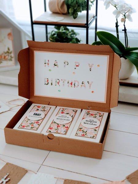 Geburstagsbox Geschenk