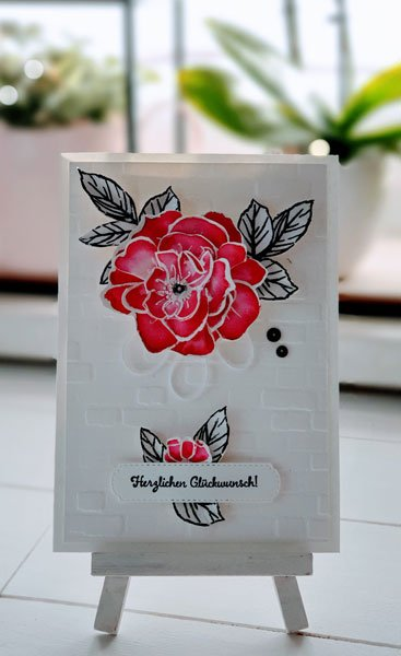 Colorieren Aquarell  stampin up