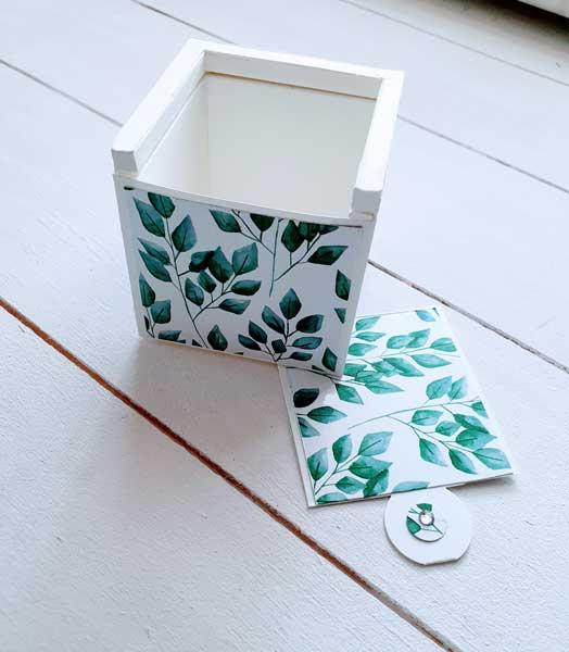 Ewiges Grün Designerpapier Box