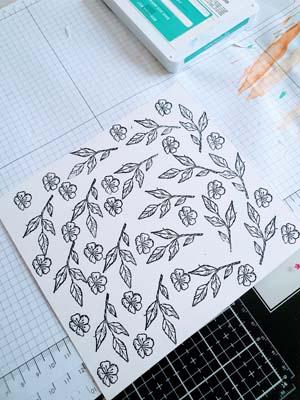 Blätter und Blüten stempeln
