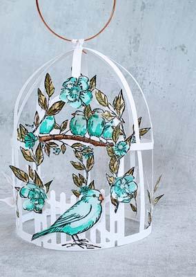 Blätter und Blüten Käfig