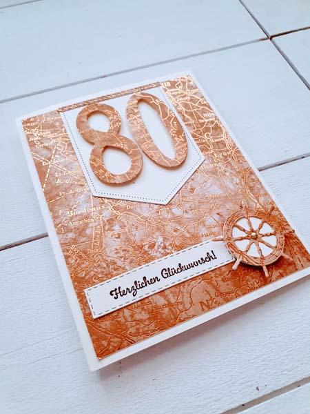 80 Geburtstag Karte