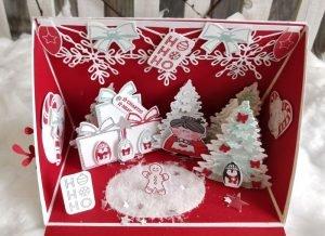 Weihnachtsbox glutrot Winterwald