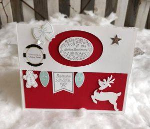 Weihnachtsbox Stampin UP Hirsch