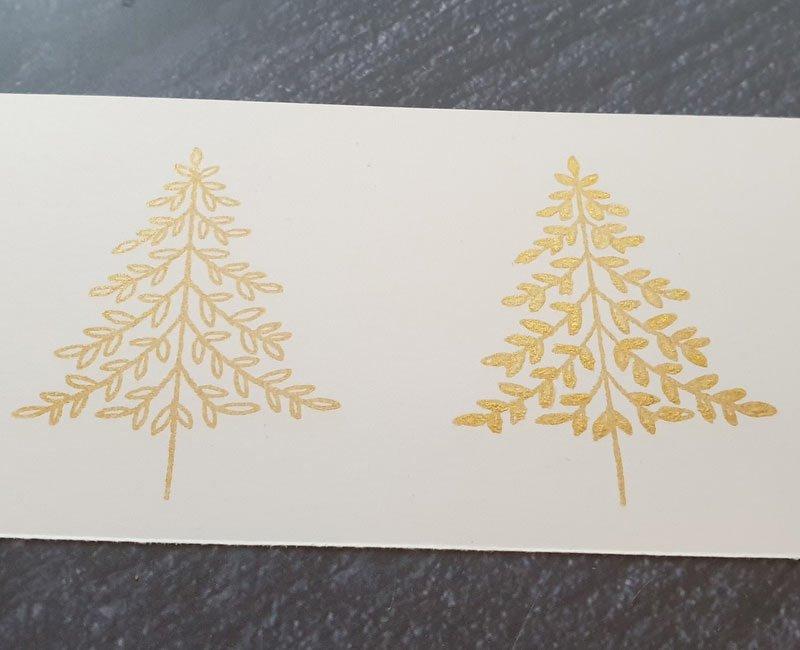 Winterwald colorieren mit Gold