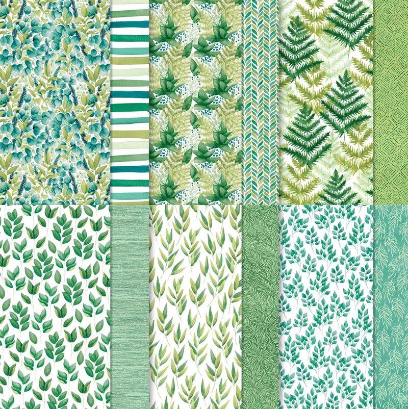 ewiges grün designerpapier