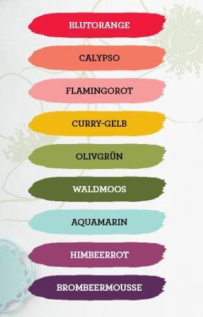 Mohnblüten Ribba Rahmen farben