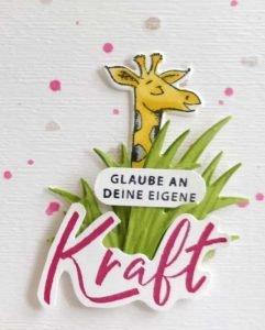 giraffe wild auf Grüße