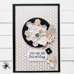 Glückwunschkarte Bienen