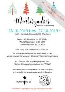 Workshop Winterzauber Stampin Up
